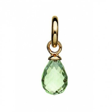 Kranz & Ziegler Story Faceted Green Amethyst Drop Charm