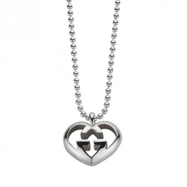 Gucci Sterling Silver Small Love Britt Necklace