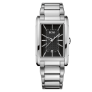 Hugo Boss Gents Steel Bracelet Watch With Black Rectangle Face