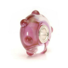 Retired Trollbeads Pink Bud Glass Bead