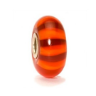 Retired Trollbeads Red Stripe Murano Glass Bead