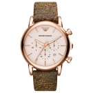 Exclusive Emporio Armani Rose Gold Plated Chronograph Classic Watch