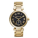 Michael Kors Ladies Skylar Black & Gold Tone Watch